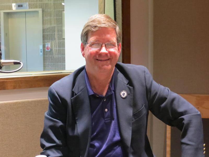 President William Ruud in the Iowa Public Radio Cedar Falls studio