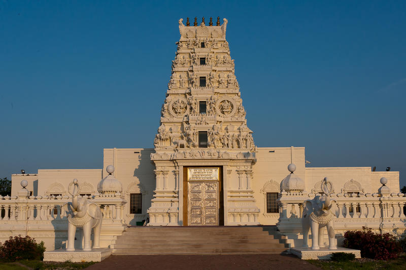 The Hindu Temple of Iowa, located in Madrid.