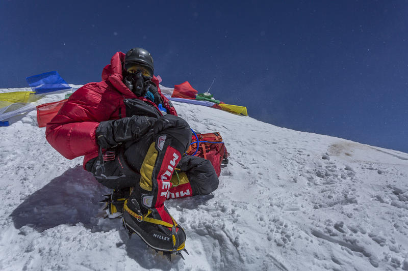 Jennifer Loeb on the summit of Mount Everest