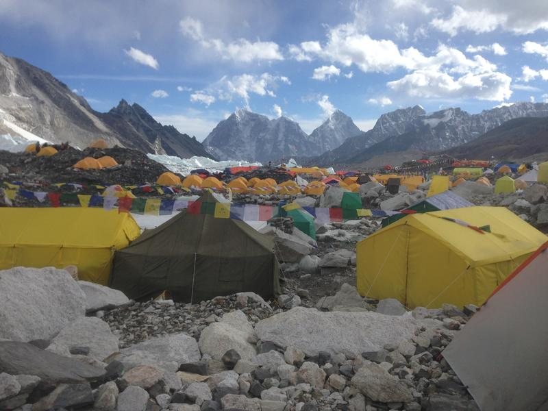 The camp where Jennifer Loeb stayed at on the climb up Mount Everest