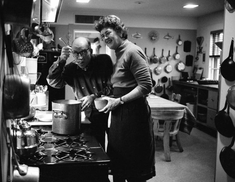 Julia & Paul Child in their Cambridge, Massachusetts, kitchen, 1967