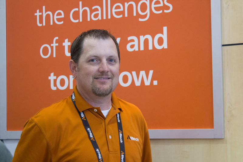 Russell Gilliam is the U.S. swine business manager for Alltech, an animal nutrition company. He says World Pork Expo gives him the chance to meet many hog farmers.