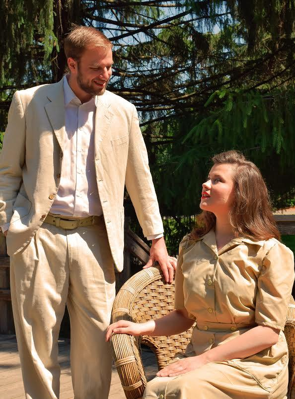 Young Artists Erin K. Bryan and Kyle Roeder play love interests Nellie Forbush and Emile de Becque