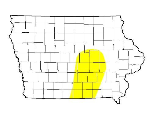 "Last week was a good one for fieldwork in Iowa, though about 14 percent of the state could use some rain.  The latest United States Drought Monitor report classifies the area in yellow as ""abnormally dry""."