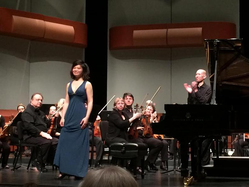 3rd Prize Winner Zhenni Li of China following her concerto performance