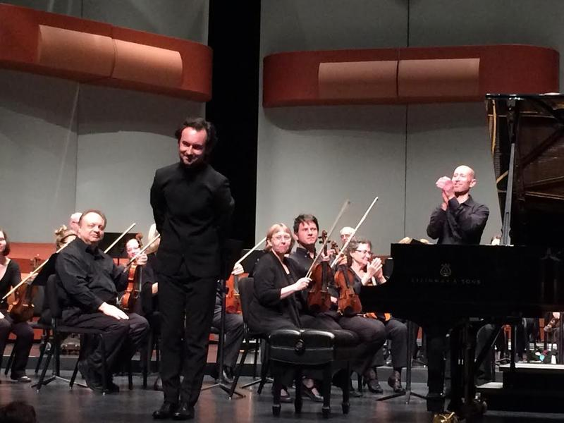 MIPC 2016 1st Prize Winner of Russia Timur Mustakimov following his concerto performance with the wcfsymphony