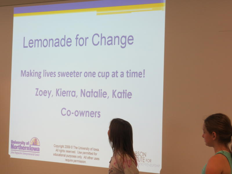Day Camp particpants reveal their strategy to sell more lemonade