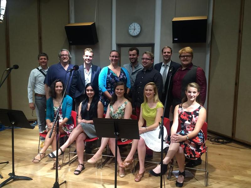 CROT Young Artist singers with Daniel Kleinknecht and Dr. John Hollins