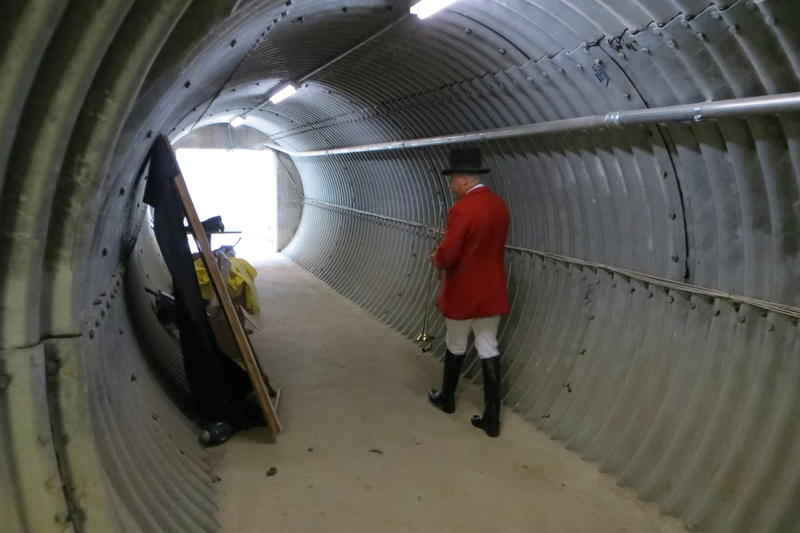 The underground tunnel connects Hartzer's nook to the winner's circle.