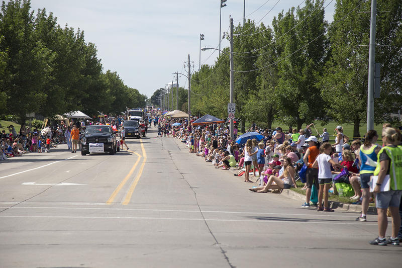 Ankeny residents gather for the city's Ankeny Summer Days parade on July 9, 2016.