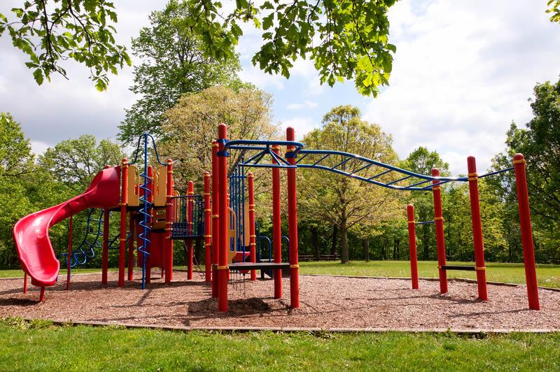A playground in Herman Park, Boone, Iowa
