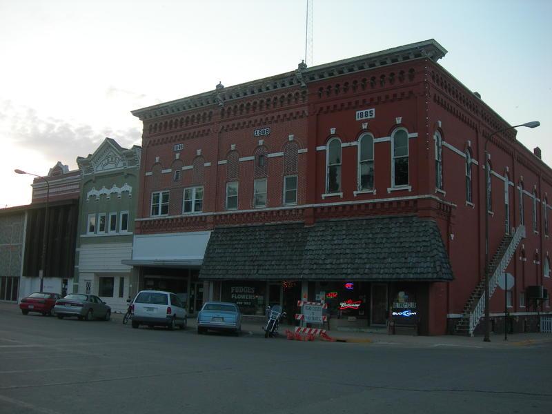 Downtown Jefferson, Iowa.