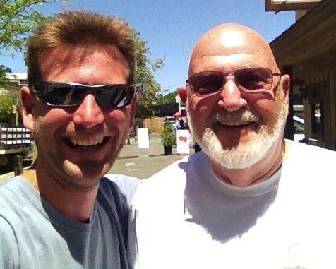 Derek Gunn and his grandpa, Gary Gunn. Derek was diagnosed with tourette syndrome when he was 7.