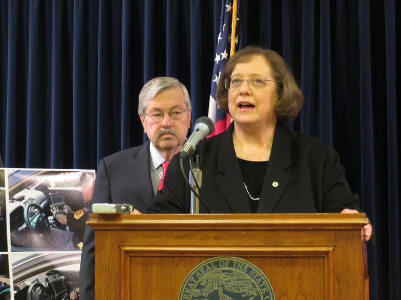 Governor Terry Branstad and Iowa Department of Public Safety Director Roxanne Ryan