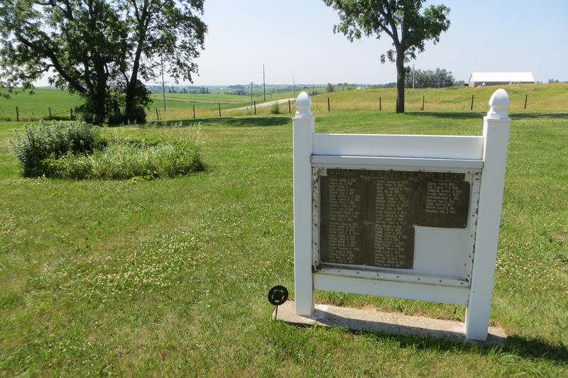 The Tama County Home Cemetery is fixed up and fenced in.