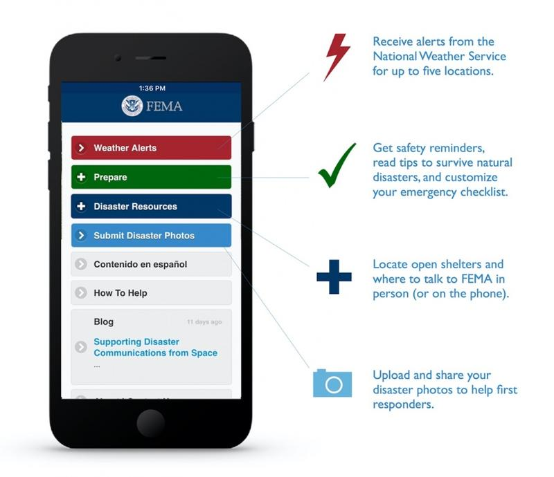 The FEMA app is available for Apple and Android smartphones.