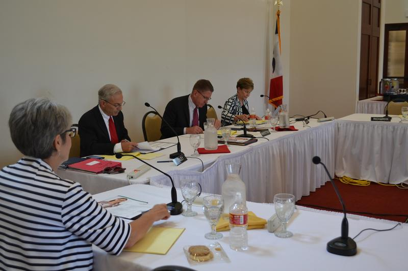 Members of the Iowa Board of Regents Monday in Ames.