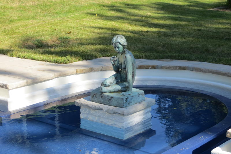 Perhaps the first private pool in Des Moines it was built by the Hubbell family.