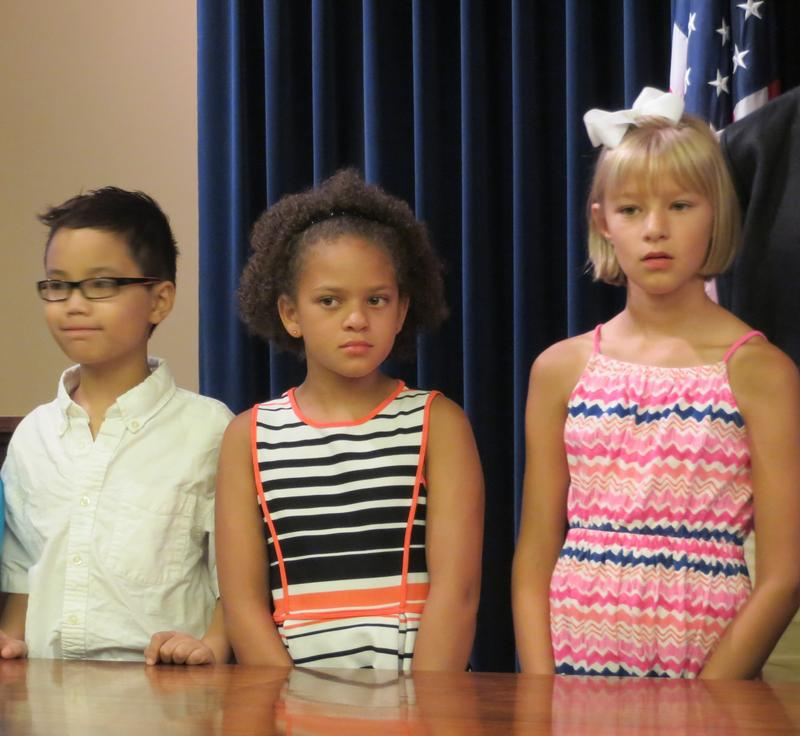 Waukee Elementary 2nd Grade Students Ethan Nguyen, Bella McDonald, and Emma Eckhart