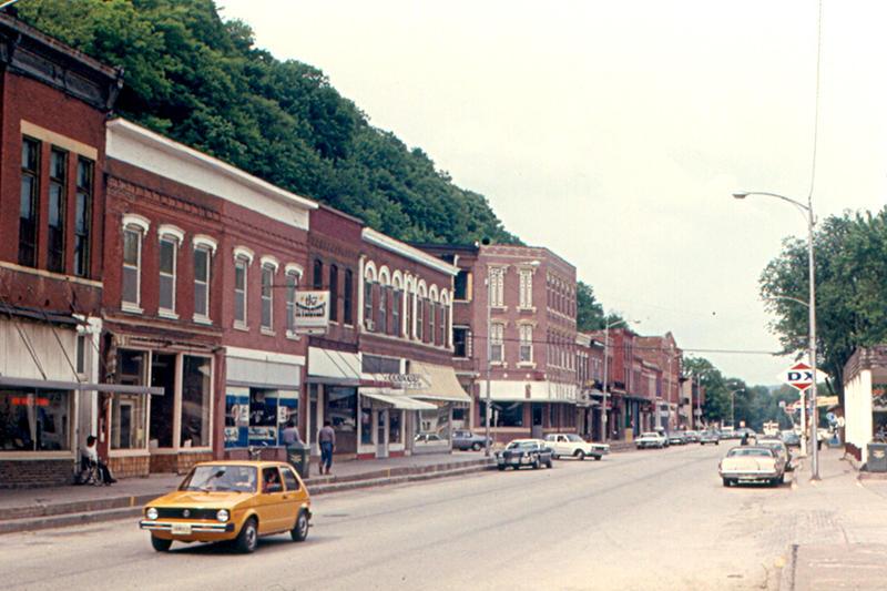 Main Street in McGregor, Iowa.
