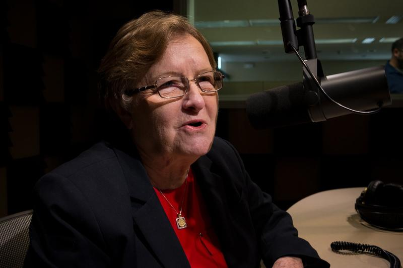 Fmr. Lieutenant Governor Patty Judge in Iowa Public Radio's Des Moines studio