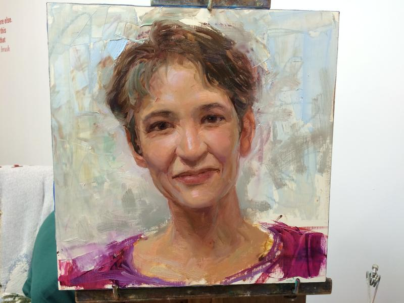 The finished portrait by Rose Frantzen