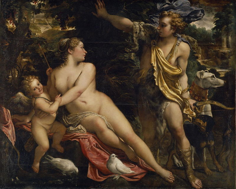 """Venus, Adonis, and Cupid"""