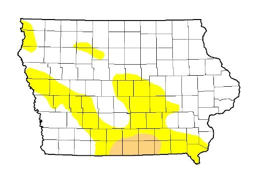 The latest U.S. Drought Monitor report shows July's rainfall has helped lessen the area of the state in any stage of drought.  It has also boosted corn and soybean crops.
