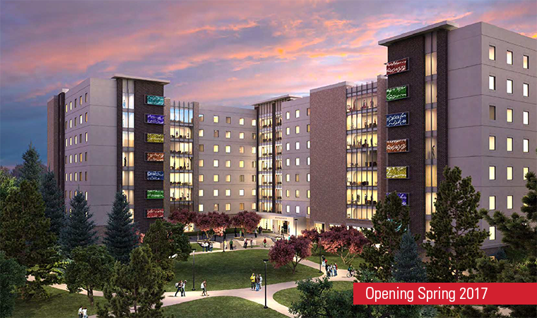 Rendition of ISU's new residence hall, scheduled to open for the Spring 2017 semester