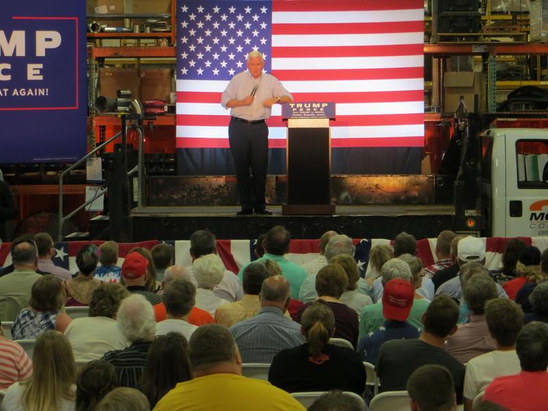 Pence spoke Monday at Modern Companies, Inc., in Cedar Rapids