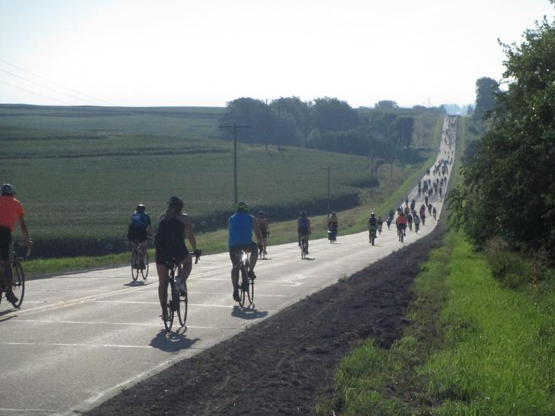 Riders along this year's RAGBRAI route