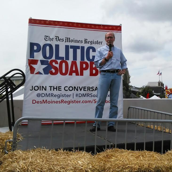 Rep. Dave Loebsack stumps at Iowa State Fair.