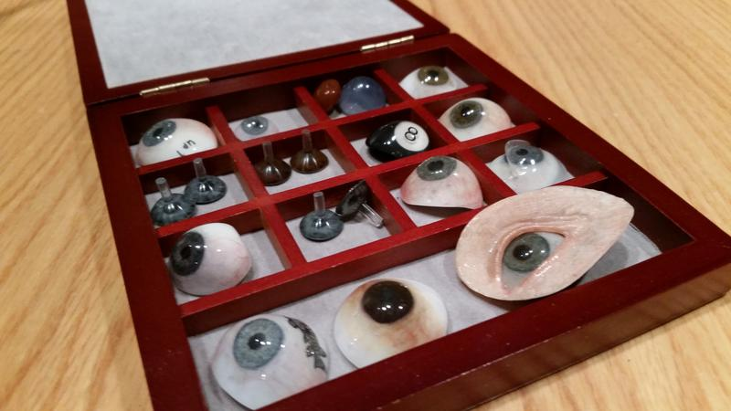 The prosthetic eyes Vaune Bulgarelli creates take about 200+ layers of paint each