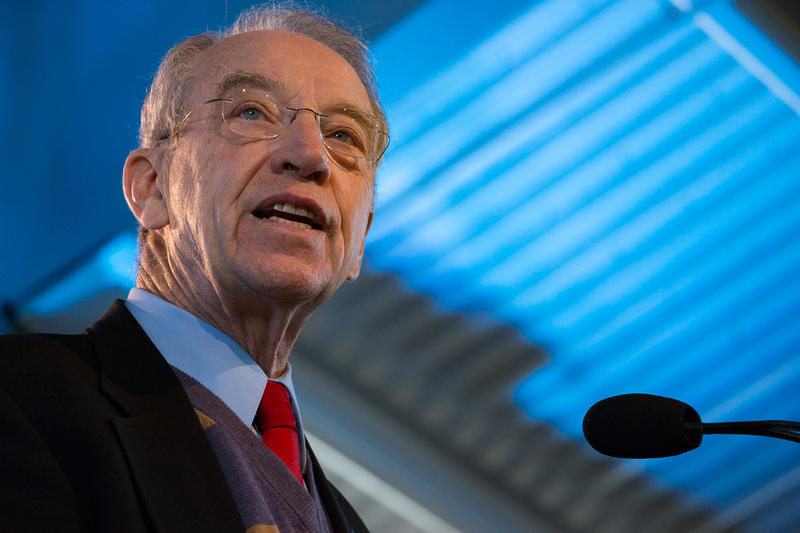 Senator Chuck Grassley speaking during the 2015 Ag Summit. 3/7/2015