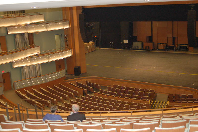a view of the new Hancher stage