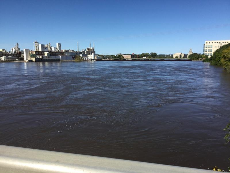 The Cedar River crested at 22 feet in Cedar Rapids on Wednesday, September 27.