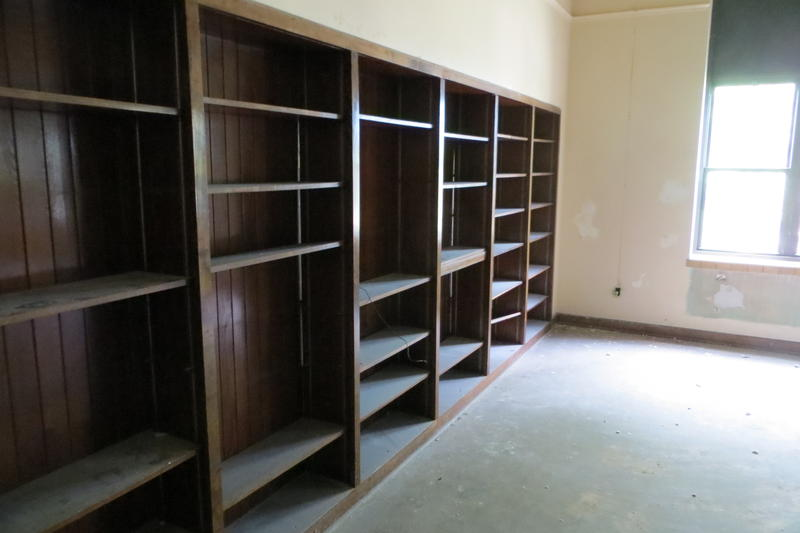 The library apartment comes with ample book cases.