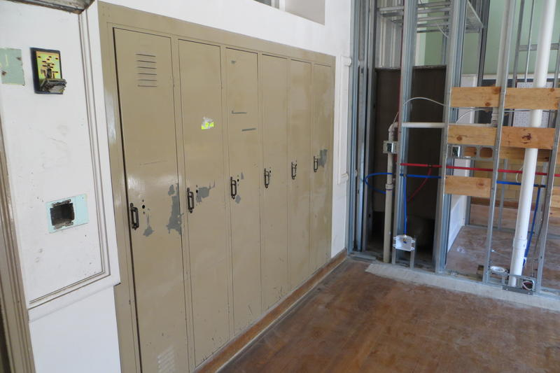 Remaining lockers will stay to become storage space.