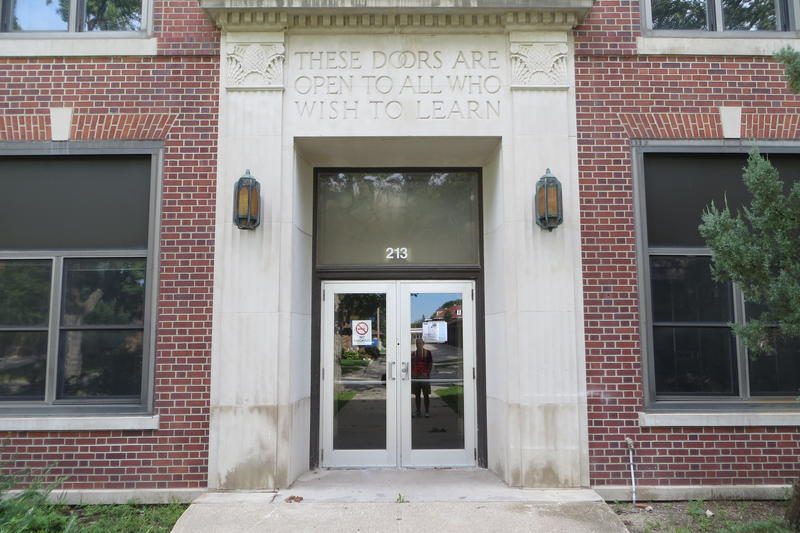The main door where thousands of students entered.