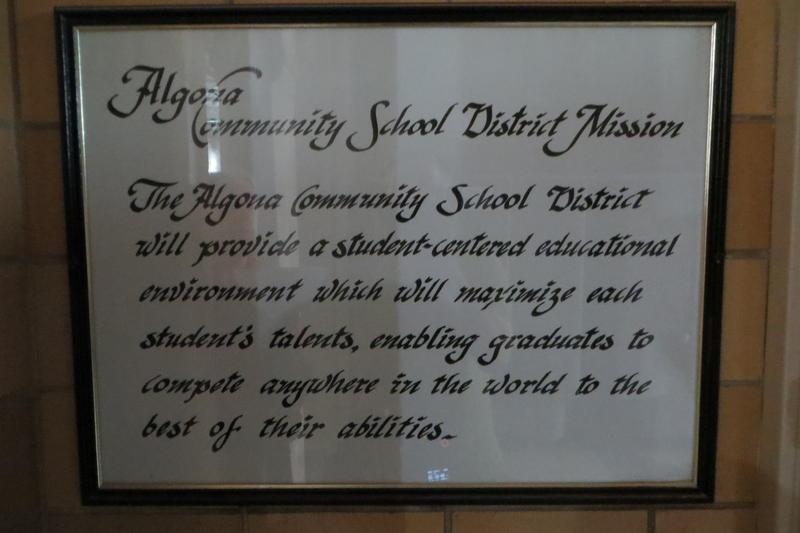Algona's mission statement will stay put.