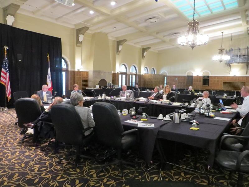Iowa Board of Regents meeting today in Iowa City