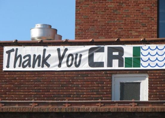 Sign on Pololi's Restaurant in Cedar Rapids
