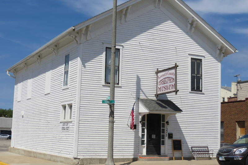 Algona's oldest wooden school (1867) is now the county historical museum.