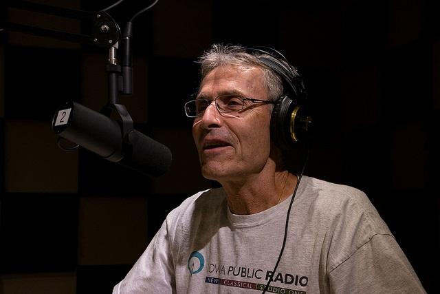 Rick Fredericksen in Iowa Public Radio's Des Moines studios.
