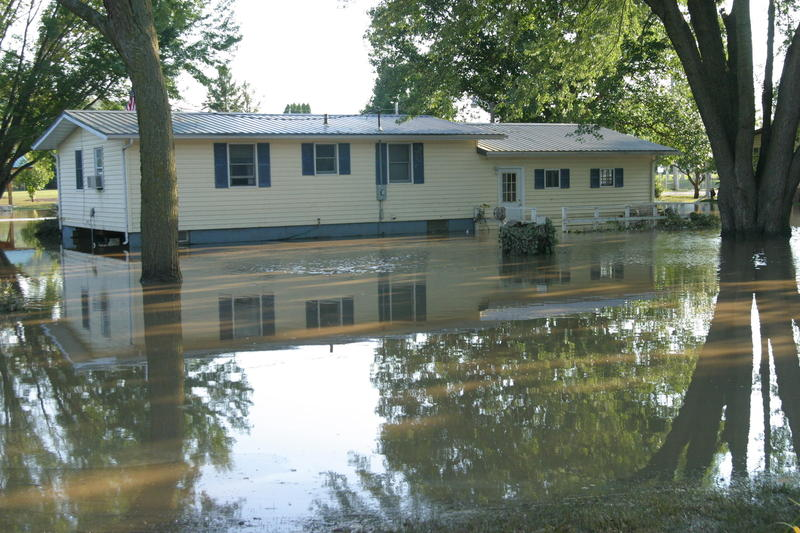 The Aske house in Freeport saw water rise to the middle of the windows on the upper floor.