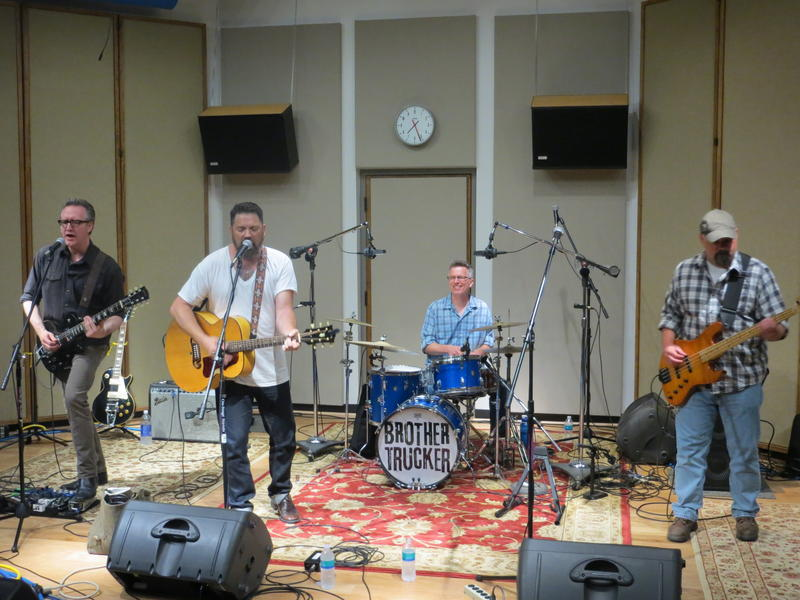 Brother Trucker performing live in IPR's Cedar Falls studios in June of 2014.