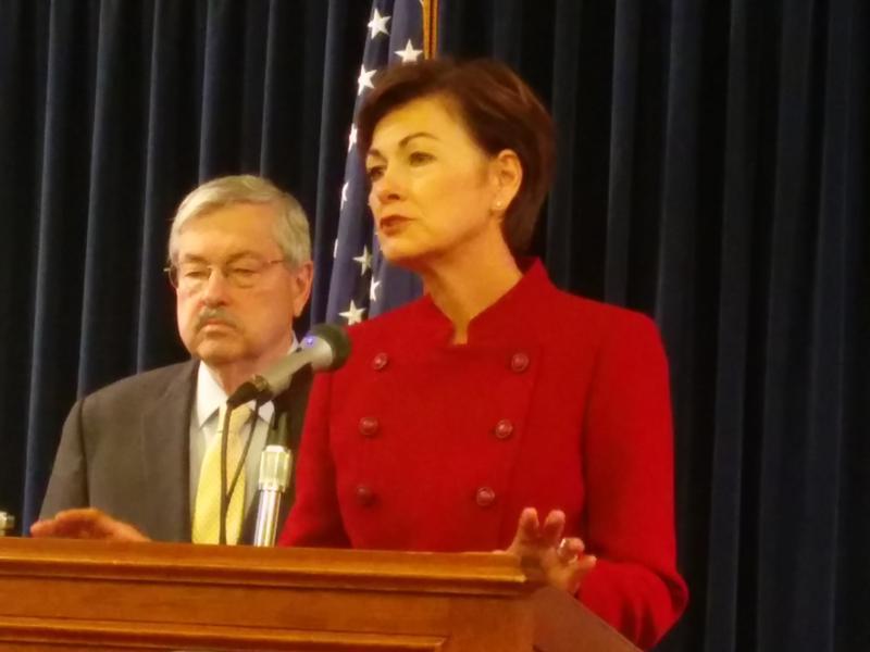 Lieutenant Governor Kim Reynolds and Governor Terry Branstad