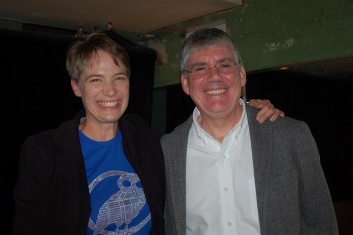 Host Charity Nebbe and author Rick Riordan