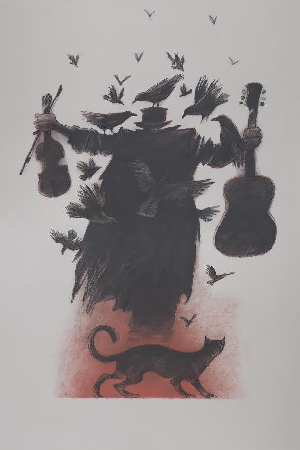Gary Kelley, poster design for the exhibition Giving the Devil His Due: the Art of Gary Kelley, 2016, pastel on paper, courtesy of the artist.