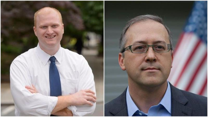 Democrat Jim Mowrer (left) is challenging GOP Rep. David Young in Iowa's 3rd Congressional District.